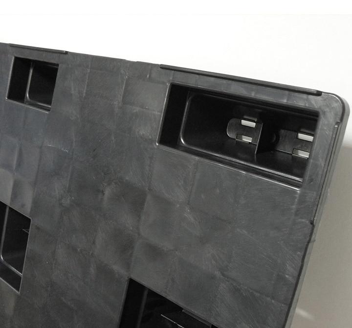 Nestable REP pallet 1200x800 closed deck 9 feet - Nestable feet   Ribawood