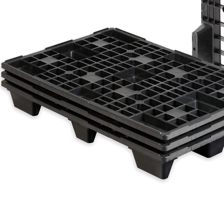 REP Pallet 1200x800 9F OPEN DECK black nestable_Ribawood