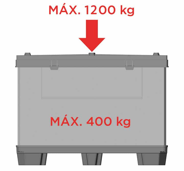 CONTAINER BOX TP 1208 or 1210 9 feet or 3 runners maximum load | Ribawood