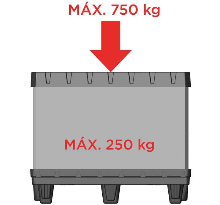 CONTAINER BOX TP 800x600 6 feet maximum load