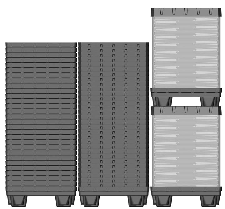 Plastic Container BOX TOP 800x600 mm Standard return system | Ribawood