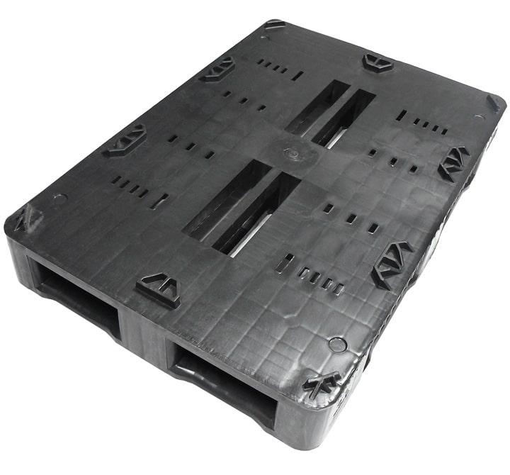 RGB pallet 1200x800-5 RUNNERS semi closed deck l Keg-locators l Ribawood