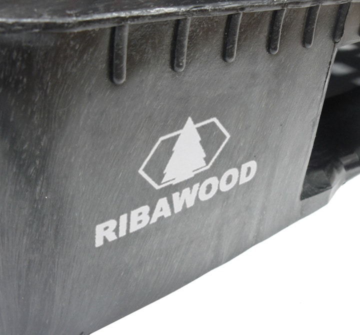 RGP pallet 1200x800 semi closed 5 RUNNERS anthracite PERSONALIZED MARKING Ribawood