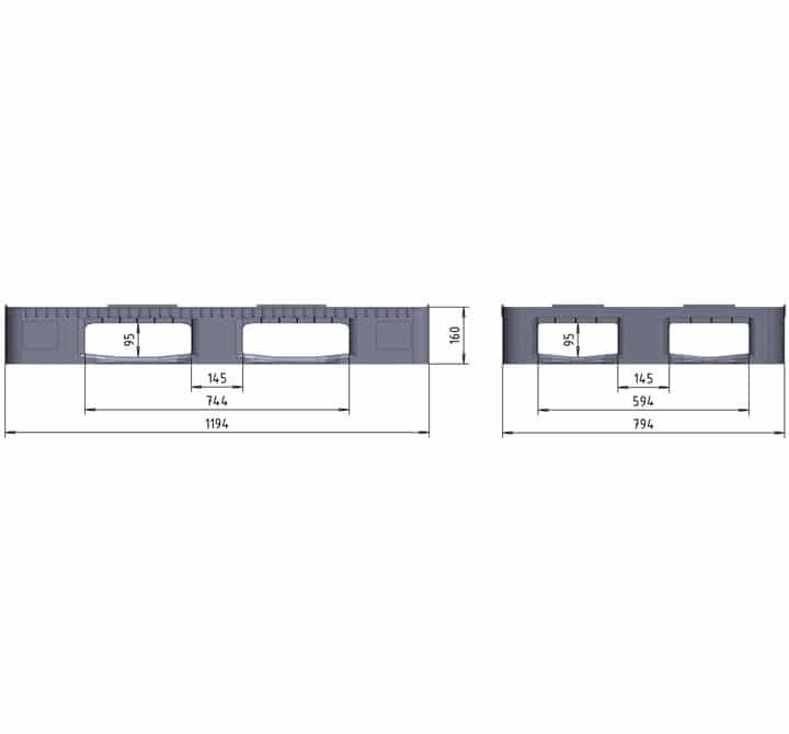 RGP 1200x800 5 RUNNERS semi closed drawing