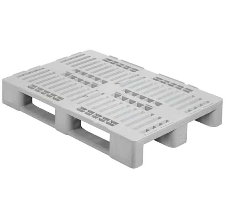 H1 type pallet 1200x800 3R OPEN DECK virgin l Central locator blocks